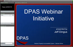 Screen shot of DCO Webinar