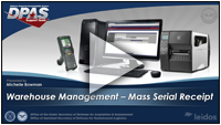 DPAS Mass Receiving Serial Assets Webinar